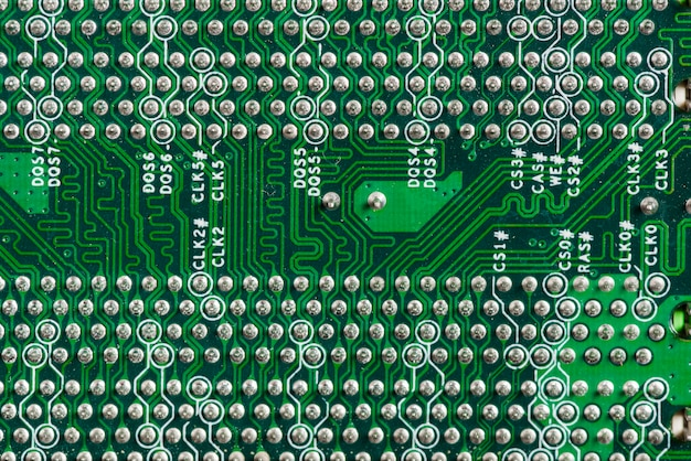 Detailed view of a computer circuit board Free Photo