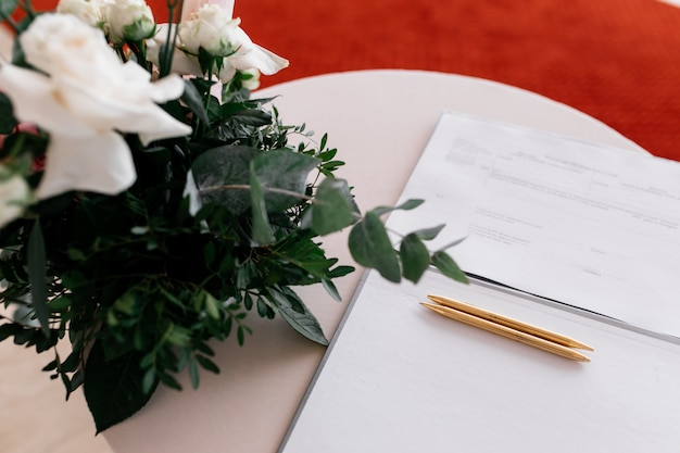 Details of a registration marriage Free Photo