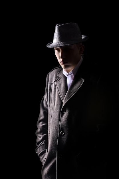 Detective in hat Free Photo