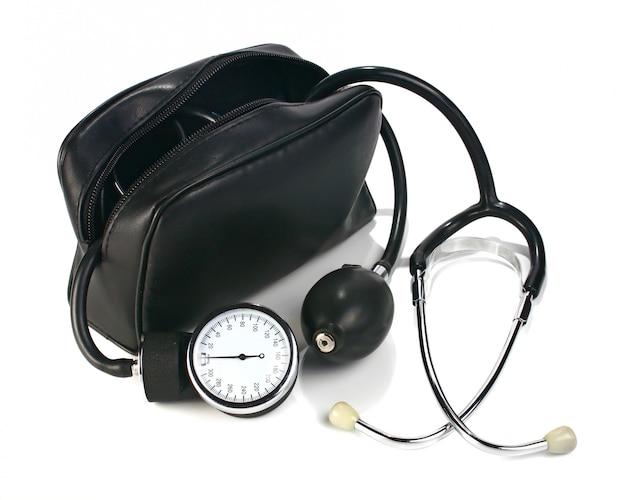 A device reading blood pressure Premium Photo