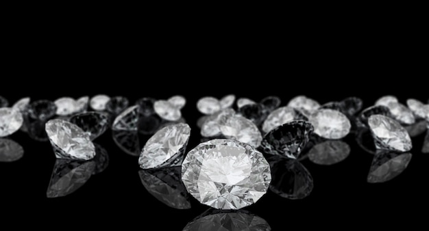 Diamond classic cut Premium Photo