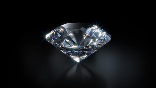 Diamond close-up Premium Photo