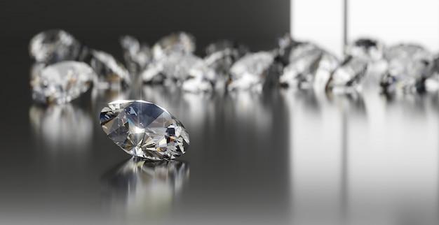 光沢のあるダイヤモンドグループ Premium写真