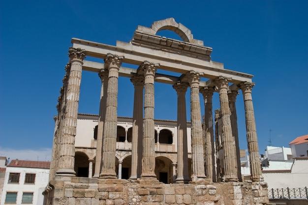 Diana's temple, merida, badajoz, spain Premium Photo