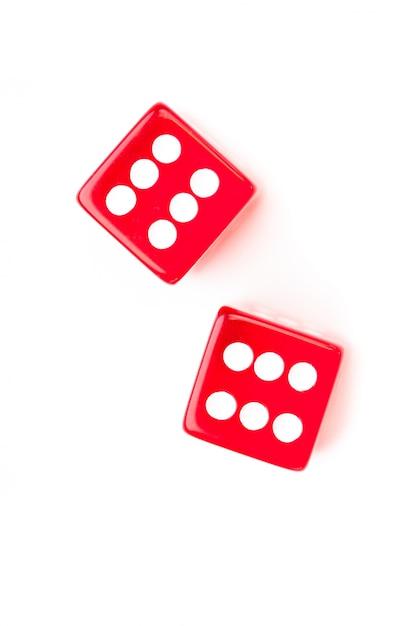 Кубины, обозначающие шесть чисел Premium Фотографии