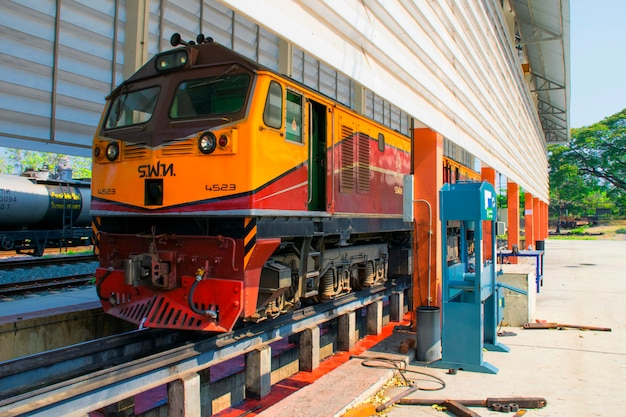 Diesel electric alstom locomotive Premium Photo
