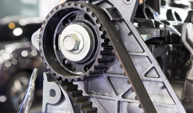 Diesel engine timing belt Premium Photo