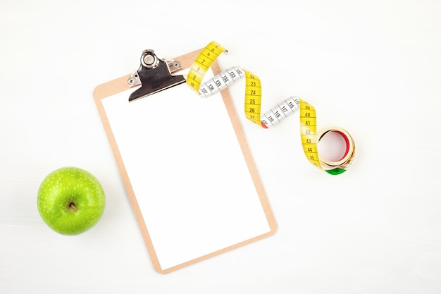 Diet, weight loss and fitness planning Premium Photo