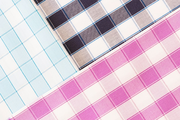 Different check pattern fabric background Free Photo