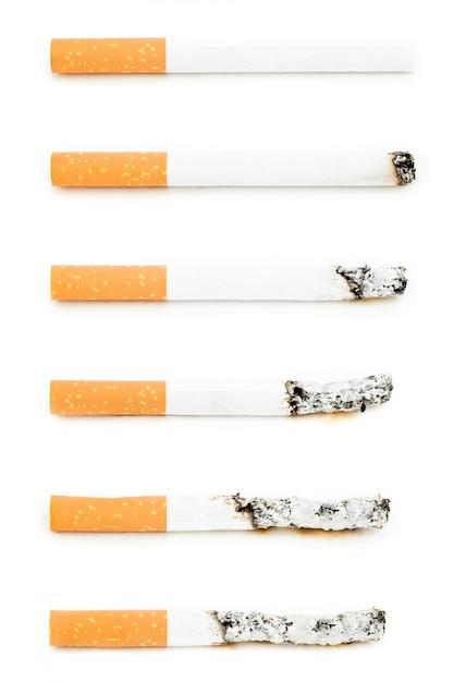 Different cigarettes burning Premium Photo