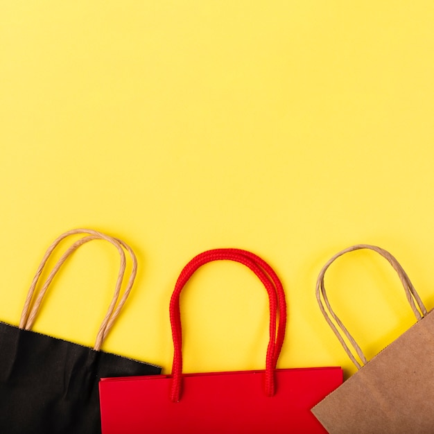 Different colored shopping bags Free Photo