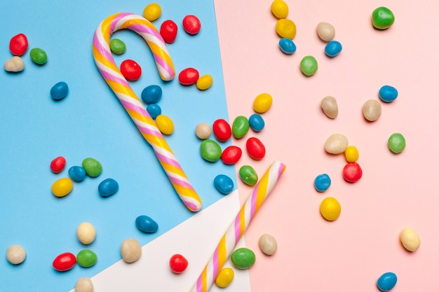 Different colorful fruit candy Premium Photo