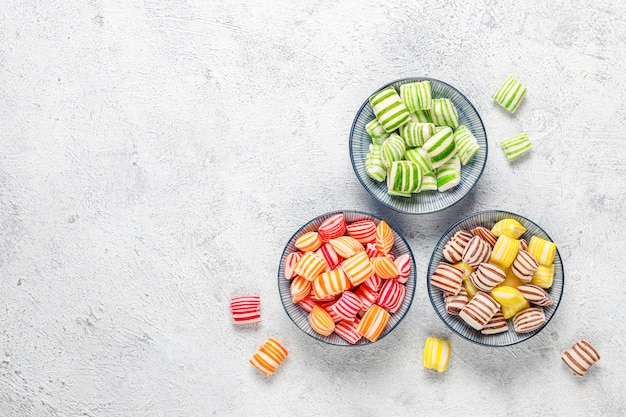 Different colorful sugar candies Free Photo