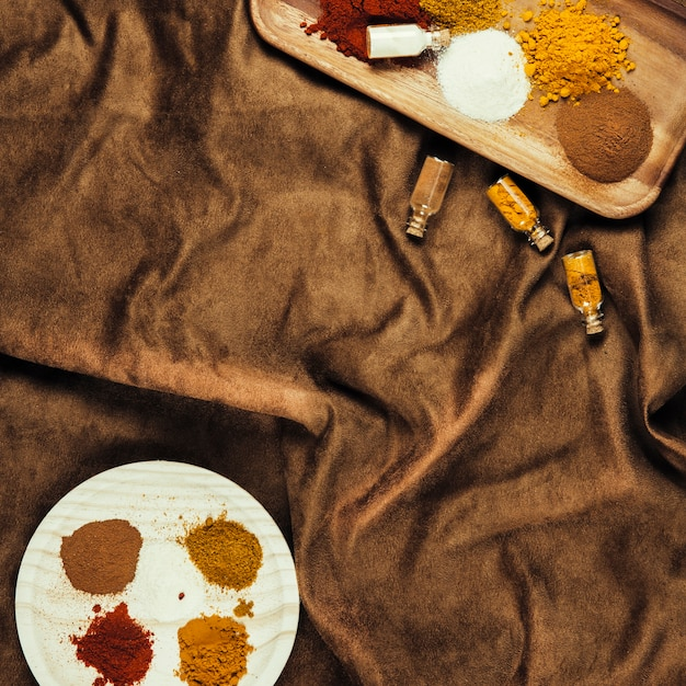 Different exotic indian spices Free Photo