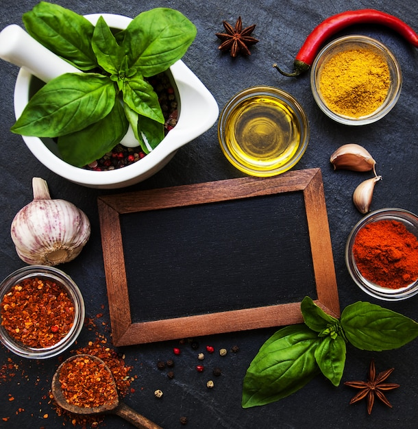 Different kind of spices Premium Photo