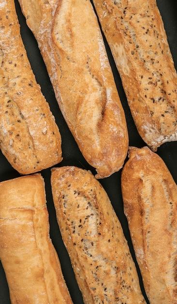 Плоская планировка различных буханок хлеба Бесплатные Фотографии