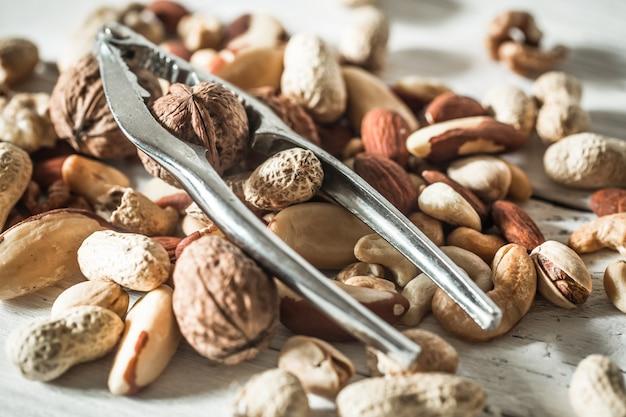 Разные орехи крупным планом Бесплатные Фотографии