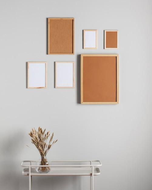 Фоторамки разных размеров на стену Premium Фотографии
