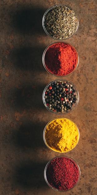The different spices. Premium Photo