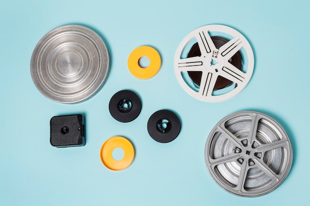 Different type of cases for storing film strip Free Photo