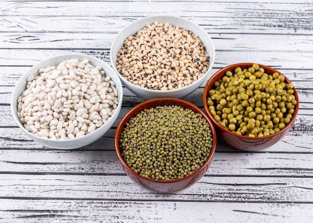 Different Types Of Peas In Bowls Free Photo