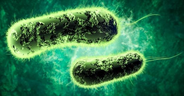 Digital 3d illustration of bacteria Premium Photo