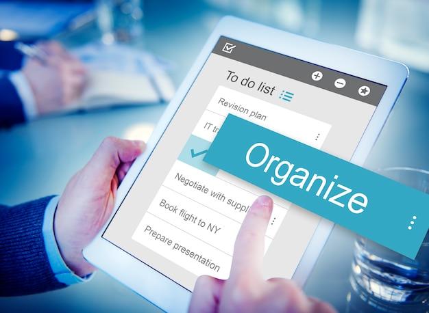 Digital business to do list app interface Free Photo