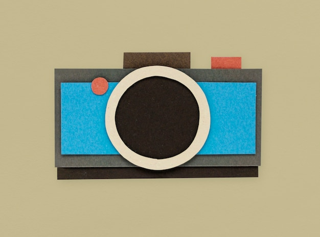 Digital camera shoot photo icon Free Photo