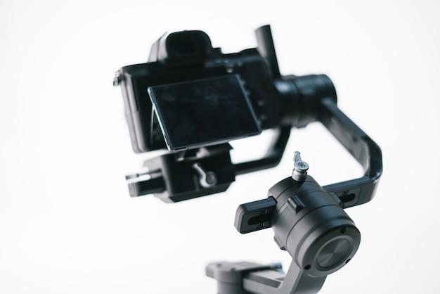 Digital camera with modern stabilizer Premium Photo