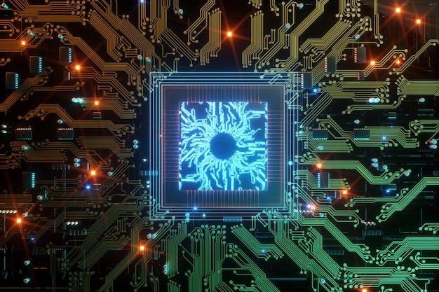 Digital chip integrated communication processor Premium Photo