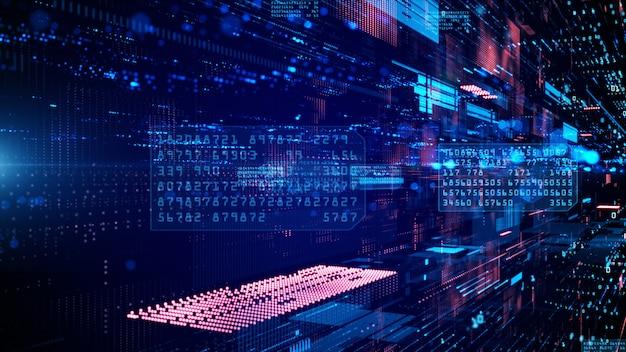 Цифровое киберпространство и сети передачи данных Premium Фотографии