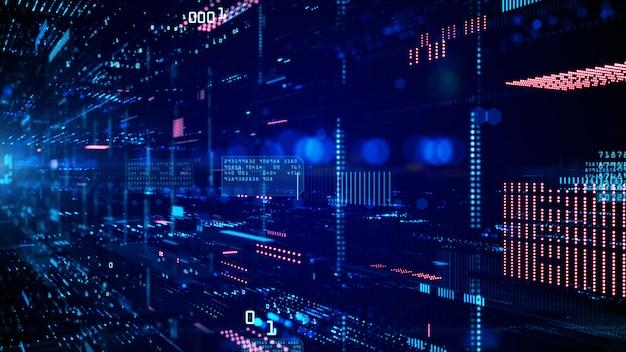 Цифровое киберпространство и сети передачи данных. Premium Фотографии
