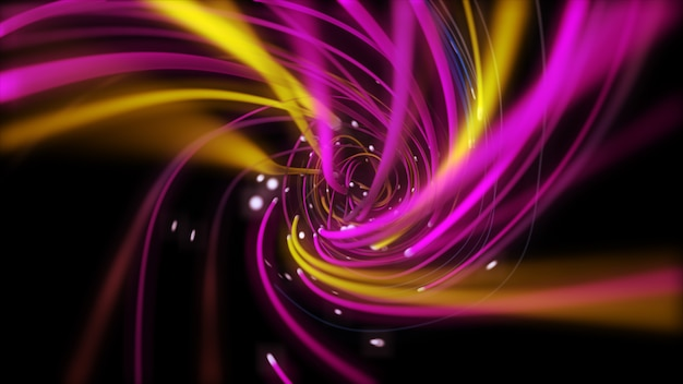 Цифровые многоцветные струнные линии скручивания Premium Фотографии