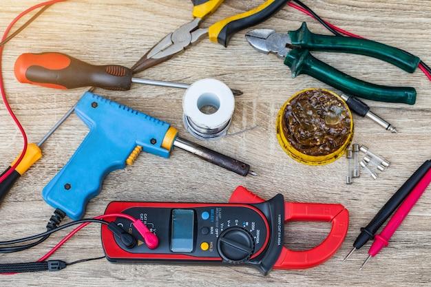 Digital multimeter for repairs electrical appliances. Premium Photo