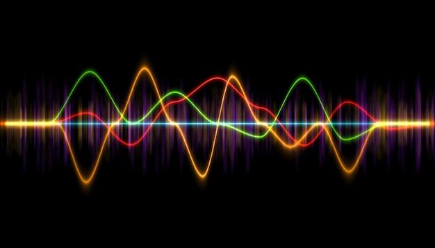 Digital music player waveform, hud for sound technology or tune bar, Premium Photo