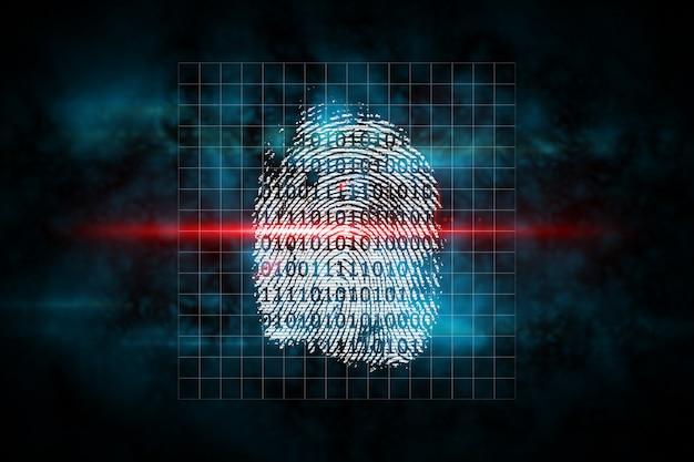 Digital security finger print scan Premium Photo