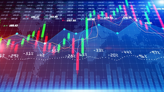Digital stock market or forex trading graph and candlestick chart suitable for financial investment. financial investment trends for business background concept. Premium Photo