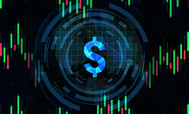 Digital stock market trading background Premium Photo