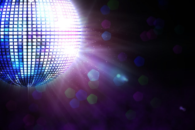 Digitally generated disco ball Premium Photo
