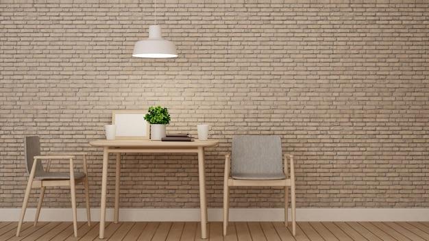 Premium Photo Dining Room Or Restaurant On Brick Wall Decoration