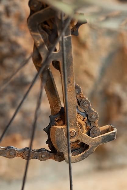 ダーティマウンテンバイクディレイラー Premium写真