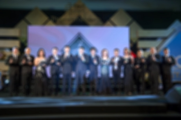 Disfocus of the award ceremony theme creative. background for business concept Premium Photo