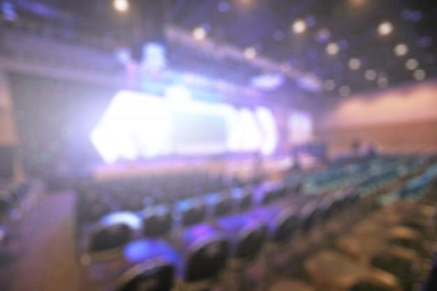 Disfocus of the convention hall background of busines Premium Photo