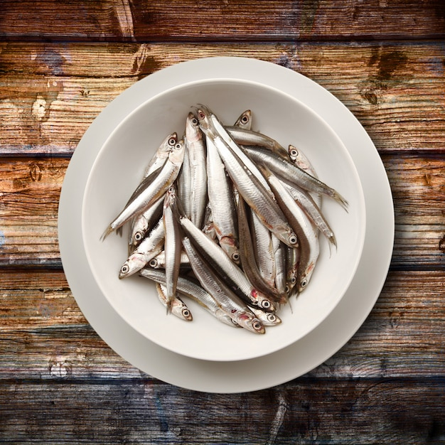 Dish of anchovies Premium Photo