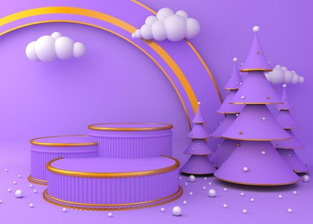 Display background for product presentation, christmas tree Premium Photo