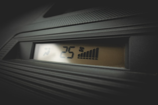 Display of a car air conditioning system at 25c full fan Premium Photo