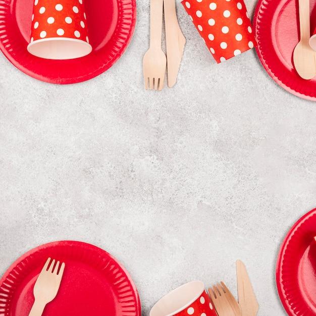 Одноразовая посуда, чашки и тарелки Бесплатные Фотографии
