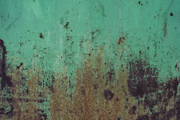 Distressed overlay texture of rusted peeled metal. grunge background. Free Photo