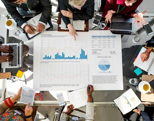 Diverse business people meeting partnership Premium Photo