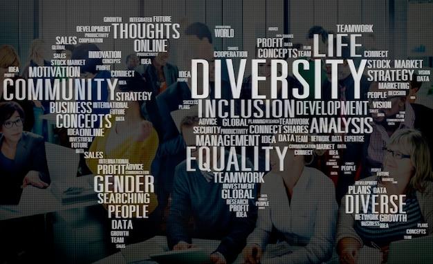 Diverse equality gender innovation management concept Free Photo